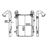 Радиатор интерулера XF105