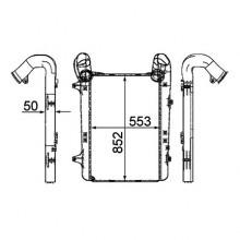 Радиатор интеркулера для DAF XF105