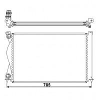 Радиатор AUDI A6 (C6 05-)  2.0 TDI/TFSI  675X445