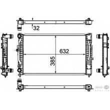 Радиатор VW PASSAT B5 AUDI A4,A6 96-04 1,6-2,3 630X412 Механика