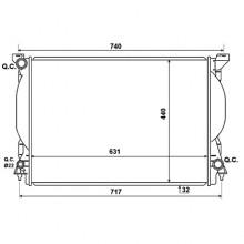 Радиатор AUDI A4, A6 3.0-3.2 FSI 630Х445Х32