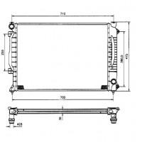 Радиатор AUDI A6 (C5 97- 05)  2.5TDI 630X450X26 МКП