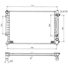 Авторадиатор AUDI A6 (C5 97-05) 2.5TDI 630Х450X26 АКП