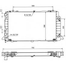 Радиатор  AUDI 80  91-94 1.9 TDI 2,0 596X358 АКП