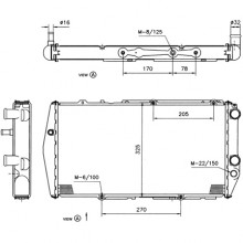 Радиатор AUDI 100 (C3 84-91)1,9-2,4 570Х310 5-целиндров