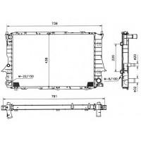 Радиатор  AUDI 100 (C4) 91-92 2,8 632Х412 Механика