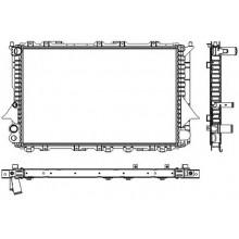 Радиатор  AUDI 100(C4),A6 91-97  2,0-2,5 632Х412 Механика