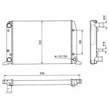 Радиатор  AUDI 80  87-91 1,6 430X322