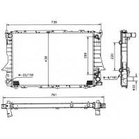 Радиатор  AUDI 100 (C4),A6 92 -94 2,6-2,8 632Х412 АКПП