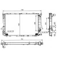 Радиатор  AUDI 100 C4,A6 91-97  2,0-2,5 632Х412 АКПП