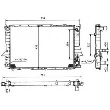 Радиатор  AUDI 100 (C4) 91-92 2,8 АКПП 632Х412