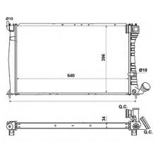 Радиатор PEUGEOT 406 1.9 TD 96-04 605 2.1TD 89-99  640X398