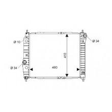 Радиатор CHEVROLET AVEO  480X410 МКП