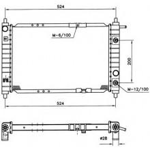 Радиатор DAEWOO MATIZ 0.8 458 X 295 X 27 АКП