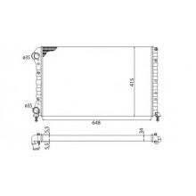 Радиатор FIAT DOBLO 1.4-1.6. 1.9D 01-  650Х400 AC+