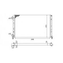 Радиатор FIAT DOBLO  1.9D-JTD 01-  650Х415 AC-
