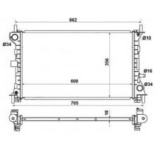 Радиатор FORD FOCUS  98-04 1.4-1.8 600X358