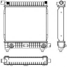 Радиатор MERCEDES-BENZ W124,201 2,0 84-93 295Х340 АКП AC-