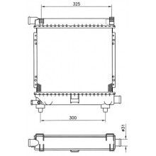 Радиатор MERCEDES-BENZ  124,201 84-93 295Х340 МКП AC-