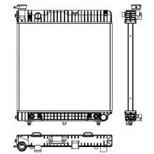 Радиатор MERCEDES-BENZ T1 207-409 86-89 473X530 АКП