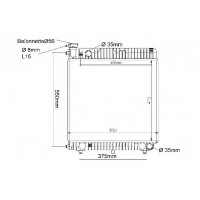 Радиатор MERCEDES-BENZ T1 207-409 86-89 475Х518 МКП