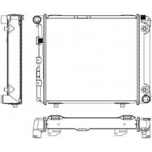 Радиатор для MERCEDES-BENZ 124 2,0-2,3 84-92 АКП
