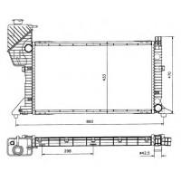 Радиатор SPRINTER 208-412 97-06 680Х400Х33 МКП АС+