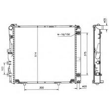 Радиатор MERCEDES 124E 84-95  2,6-3.2 530Х490 АКП АС+