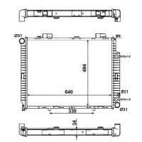 Радиатор MERCEDES W210 220-320 95-02 640Х492 АКП
