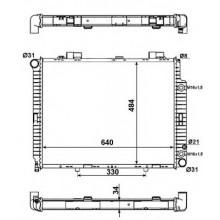 Радиатор для MERCEDES W210 220-320 95-02 АКП
