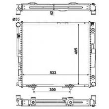 Радиатор MERCEDES 124 E 2,0-3,0D 84-00 530Х490 АКП