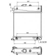 Радиатор MERCEDES W202 1,8-2,3 94-00 365Х435 АКП АС-