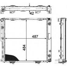 Радиатор MERCEDES 124 2,0-2.2 92-95 490Х490 АКП