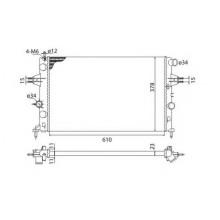Радиатор OPEL ASTRA G 98-10 1.4-1.8-2.0 600X378 МКП АС+