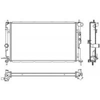 Радиатор OPEL VECTRA B 1,6-2,0 95-00 608X361 МКП АС+