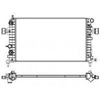 Радиатор OPEL ASTRA H 1.2-1.8 04- 600X370 АКП