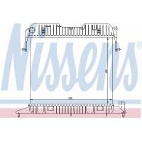 Радиатор OPEL OMEGA A 1.8-2.0 86-94 400Х495 МКП