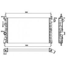 Радиатор  OPEL KADETT E 1,3-1,4i-1.6i 525Х320