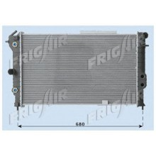 Радиатор OPEL VECTRA A 2,0  617Х375 АКП AC+