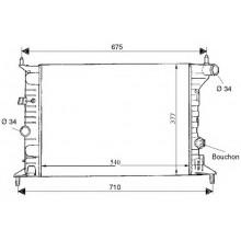 Радиатор OPEL VECTRA B 1,6-2,0 95-00 537X361 МКП AC-