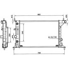 Радиатор OPEL VECTRA B 1,6-2,0 95-00 537X360 АКП AC-