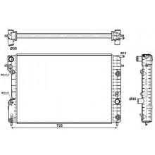 Радиатор для OPEL OMEGA B 2,0-3,0 95-00 АКП