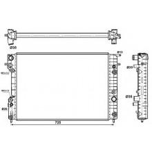 Радиатор OPEL OMEGA B 2,5-3,0 95-00 653X460X42 АКП AC  плоские соты