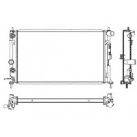 Радиатор OPEL VECTRA B 1,6-2,0 95-00 608X360 АКП AC+