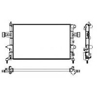 Радиатор OPEL ASTRA G 98-10 1.2-1.6 600X377 АКП AC+