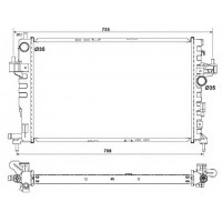 Радиатор  CORSA Combo Tigra 1.3-1.7CDTI 16V 03-  600Х350 AC+