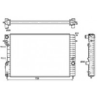 Радиатор OPEL OMEGA B 2,0-3,0 95-00 653X460X34 МКП плоские соты