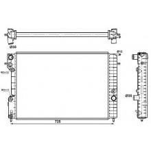 Радиатор для OPEL OMEGA B 2,0-3,0 95-00 МКП