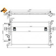 Радиатор для OPEL ASTRA G 98-10 1.4-1.8-2.0 АКП АС+