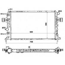 Радиатор OPEL ASTRA G 2.0 16V 2.0DTI 98-05 600X370 АКП